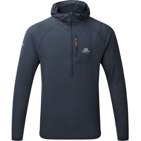 Mountain Equipment M's Solar Eclipse Hooded Zip Tee Blue Nights